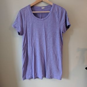 J.Crew purple t-shirt- sz L